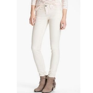Free People Cord Cropped Cream sz 28